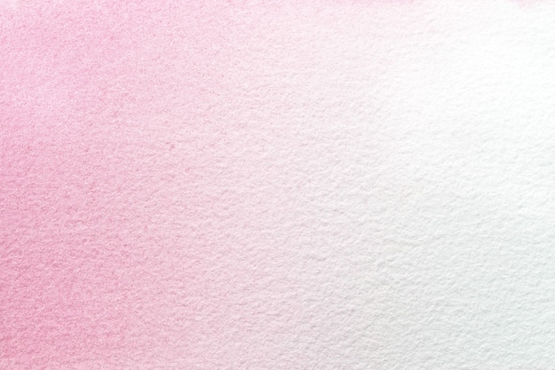 추상 미술 배경 밝은 분홍색과 흰색 색상. 보라색 그라데이션으로 종이에 수채화 그림.