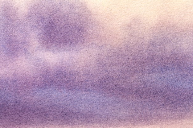 Abstract art background light purple and beige colors. watercolor painting on canvas.