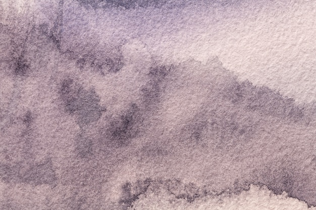 Абстрактное искусство фон светло-фиолетового цвета. акварельная живопись на холсте с мягким фиолетовым градиентом.
