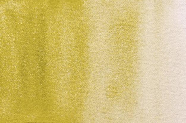 Абстрактное искусство фон светло-желтого и золотого цветов. акварельная живопись на холсте с мягким бежевым градиентом.