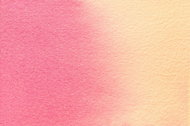 Abstract art background pink and coral colors. watercolor painting on canvas. artwork on paper with pattern.