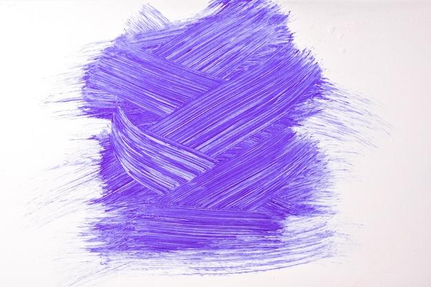 추상 미술 배경 보라색과 흰색 색상입니다. 보라색 선과 스플래시와 캔버스에 수채화 그림. 라벤더 샘플이 있는 종이에 아크릴 아트웍입니다. 질감 배경입니다.