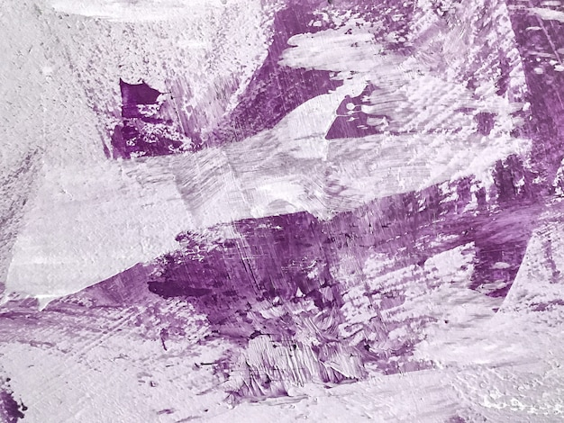 Abstract art background purple and white colors. watercolor painting on canvas with violet gradient.