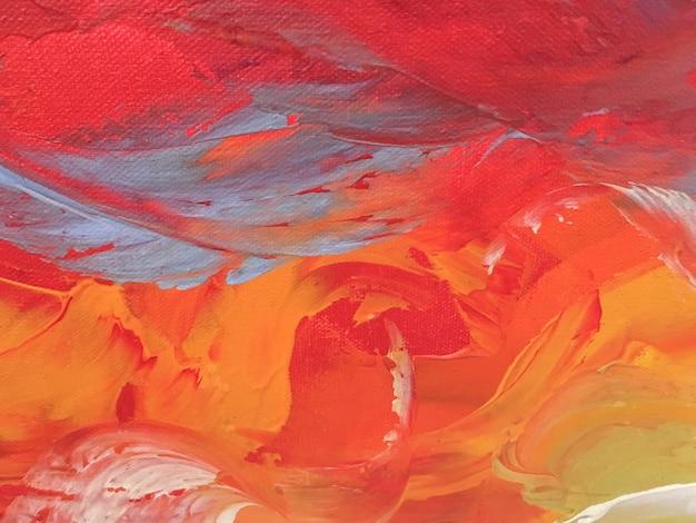 Абстрактное искусство фон красный и оранжевый цвета.