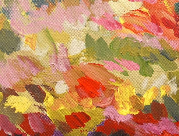 アクリル絵の具と抽象芸術の背景。