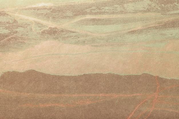 抽象芸術の茶色と青銅色。キャンバスに多色塗装。