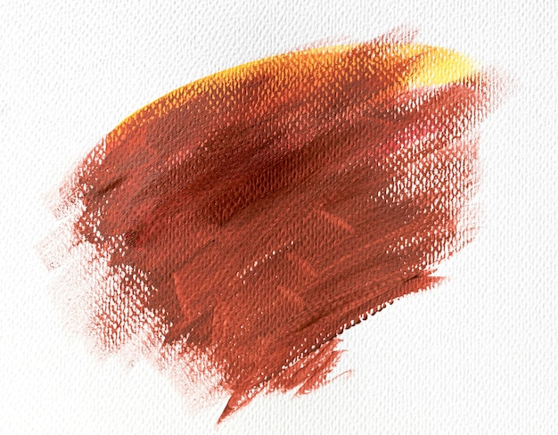 Abstract art brown paint stain on canvas
