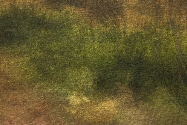 Abstract art dark green and brown colors.