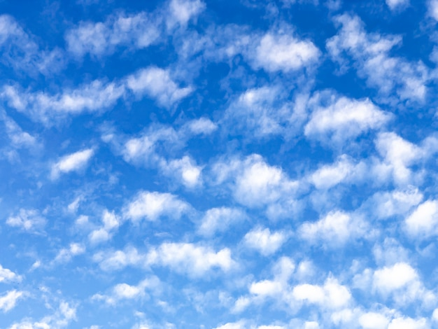 The abstract art design  background of blue sky with smoky waving cloud