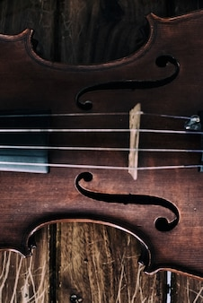 The abstract art design background of front side violin