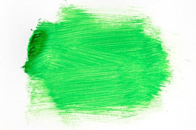 Абстрактное искусство зеленая краска пятно