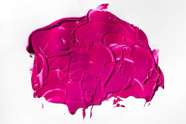 Abstract art magenta paint stain