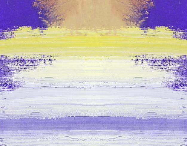 木の上の抽象美術の絵画