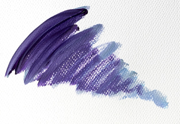 Abstract art purple paint stain on canvas