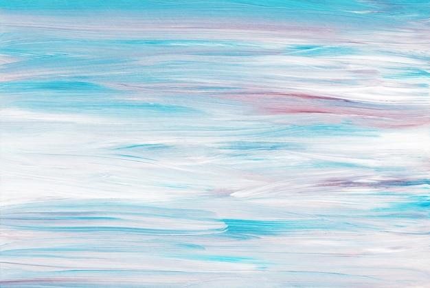 Абстрактный художественный фон, светло-голубые, фиолетовые и белые мазки на бумаге