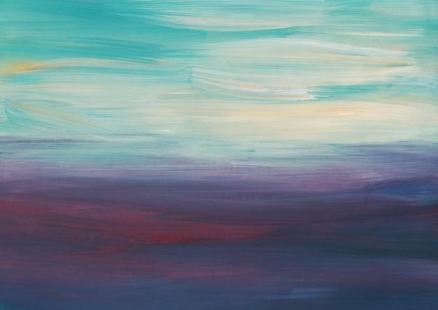 Абстрактная художественная фоновая живопись, белая, синяя, фиолетовая текстура омбре