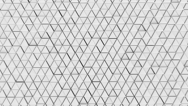 Абстрактный фон фон стены клетки ясный цвет белый футуристическая графика шестиугольник, матрица современный сетевой узор технический треугольник настенные обои - иллюстрация 3d