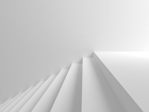 抽象的な背景すべての白いシーン右側に手順があります。 3dシーン。