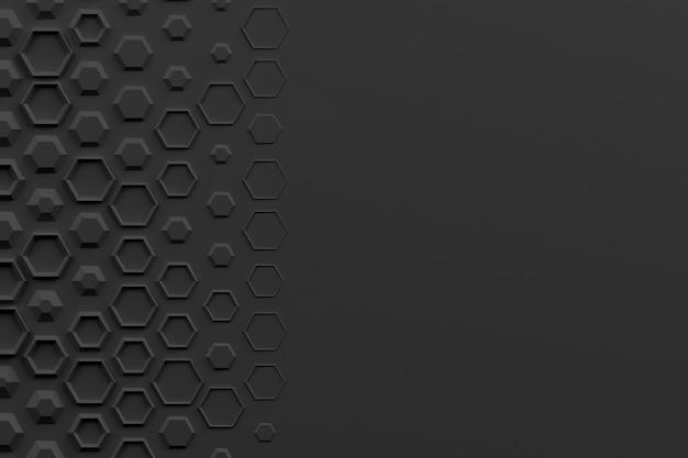 ランダムな体積六角形要素3dイラストに基づく抽象的な背景