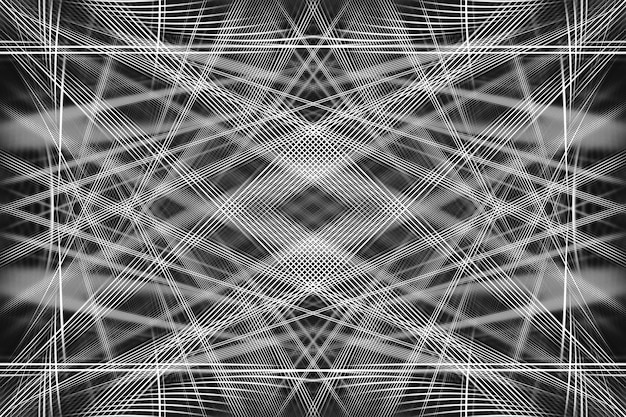 抽象的な背景。線と黒と白の幾何学模様