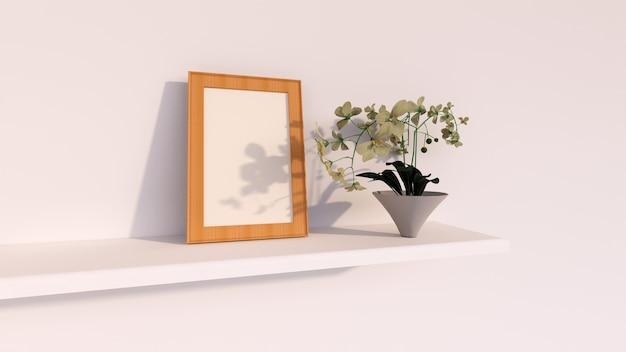 抽象的な背景、花と空白のフレームの写真の木