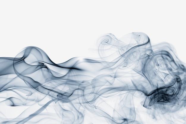 Sfondo astratto, design cinematografico texture fumo blu