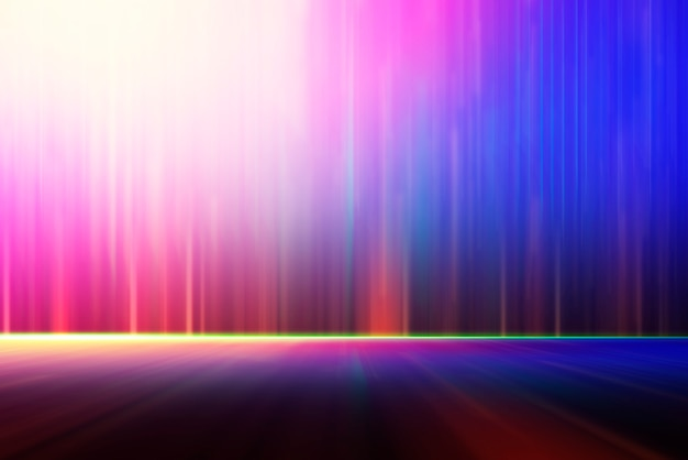Abstract background, blurred colorful lighting for technology backdrop.