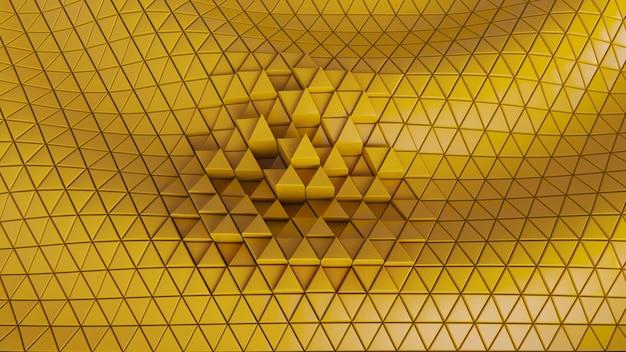 Абстрактный фон ячейки треугольников. матричные сетевые обои с технологическим рисунком.