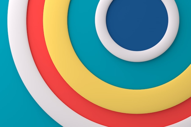 Abstract background of circle. 3d rendering.