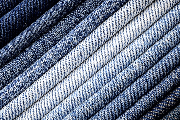 Abstract background of close up denim fabric