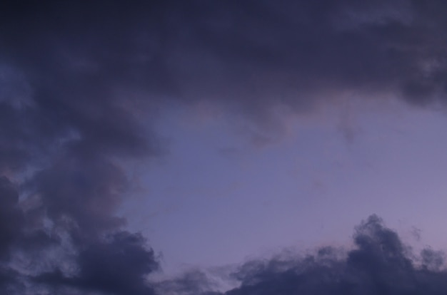 Abstract background of cloudy sunset sky blue hour