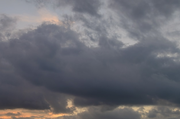 Abstract background of cloudy sunset sky golden hour. high quality photo