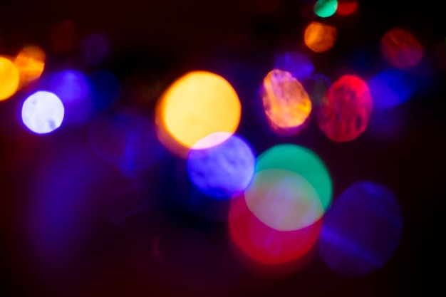 Abstract background of color lights