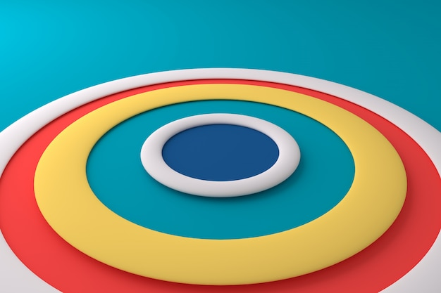 Abstract background of colorful circle