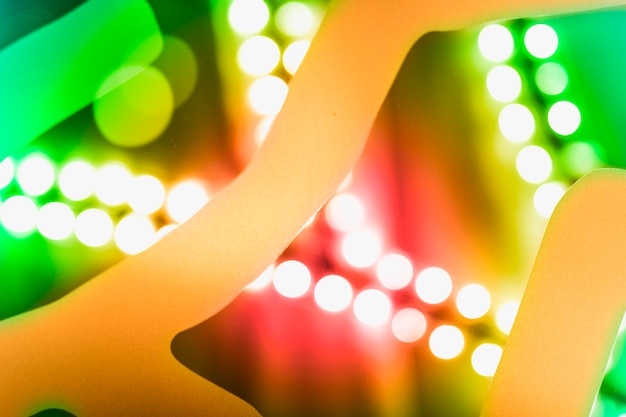 Abstract background of colorful glowing festive light