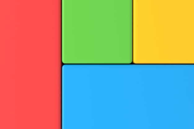 Abstract background of colorful rectangle. 3d rendering.