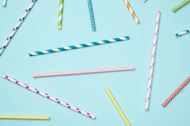 Abstract background. colorful striped cocktail straws