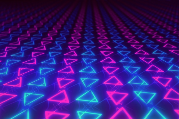 Abstract background of colorful symmetrically triangles