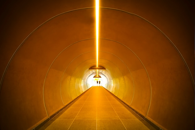 Abstract background. construction tunnel perspective.