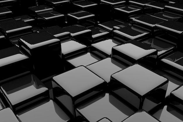 Abstract background of cubes. 3d rendering.
