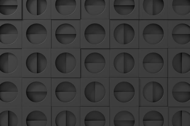 Abstract background of dark metal. 3d background design. 3d rendering.
