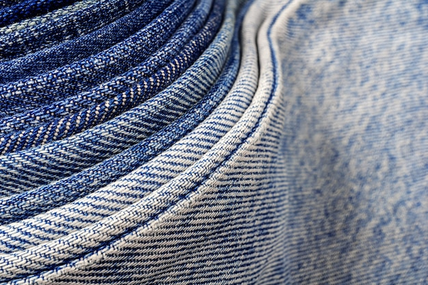Abstract background of denim jeans fabirc