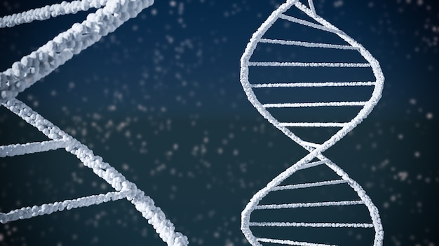 Abstract background of dna structure helix