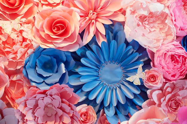 Abstract background of flowers for wedding close up.