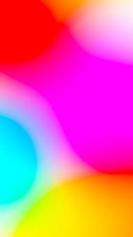 赤黄色ピンクブルーミックスカラーとモバイルのスマートフォンの画面の抽象的な背景