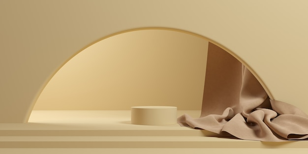 製品ブランディングの抽象的な背景。空きスペースでシーンをモックアップします。 3dレンダリング