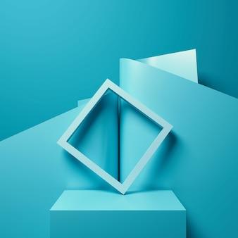 제품 프리젠 테이션, 연단 디스플레이, 최소한의 파스텔 장면, 3d 렌더링에 대 한 추상적 인 배경.