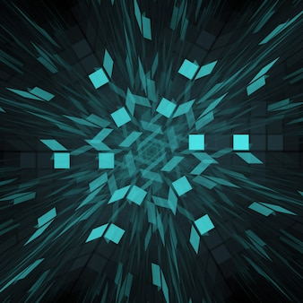 Abstract background. fractal design. square pattern. isolated on black background