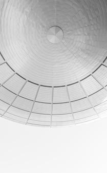 둥근 현대 건축에서 추상 배경