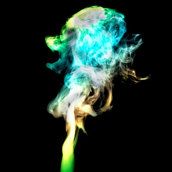 Abstract background from color smoke on back.